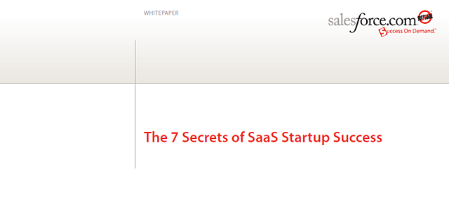 salesforce SaaS startup success