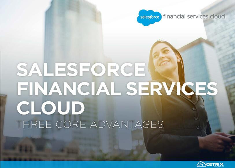 Salesforce 3 core advantages financial ebook